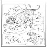 Disegni da colorare Animali - Tigre 3