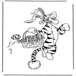 Personaggi di fumetti - Tigro lepre di Pasqua