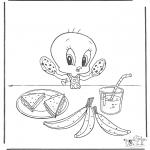Personaggi di fumetti - Titti mangia
