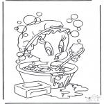 Personaggi di fumetti - Titti nel bagno