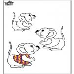 Disegni da colorare Animali - Topi 2