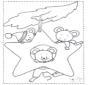 Topi nella stella natalizia