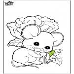 Disegni da colorare Animali - Topo 1