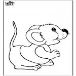 Disegni da colorare Animali - Topo 2