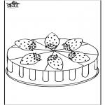 Disegni da colorare Vari temi - Torta di fragole