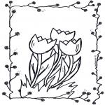 Disegni da colorare Vari temi - Tulipani
