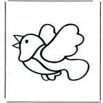 Disegni da colorare Animali - Uccello