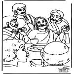 Disegni biblici da colorare - Ultima Cena
