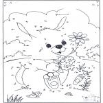 Lavori manuali - Unisci i puntini - Coniglio 1