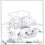 Lavori manuali - Unisci i puntini - Coniglio 2