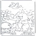 Lavori manuali - Unisci i puntini - Coniglio 3