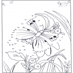 Lavori manuali - Unisci i puntini - farfalla
