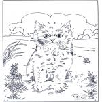 Lavori manuali - Unisci i puntini - gatto 2