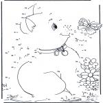 Lavori manuali - Unisci i puntini - gatto 4
