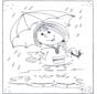 Unisci i puntini - ombrello