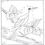 Lavori manuali - Unisci i puntini - uccelli