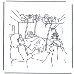 Disegni biblici da colorare - Uomo paralizzato 1