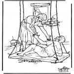Disegni biblici da colorare - Uomo paralizzato 4