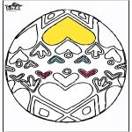 Disegni da colorare Temi - Uovo di Pasqua 4