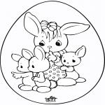 Disegni da colorare Temi - Uovo di Pasqua 6