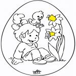 Disegni da colorare Temi - Uovo di Pasqua 8