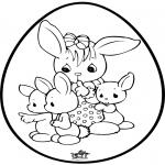 Disegni da colorare Temi - Uovo di Pasqua - Disegno da bucherellare 1