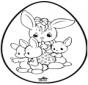 Uovo di Pasqua - Disegno da bucherellare 1