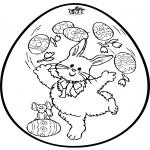 Disegni da colorare Temi - Uovo di Pasqua - Disegno da bucherellare 2