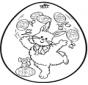 Uovo di Pasqua - Disegno da bucherellare 2