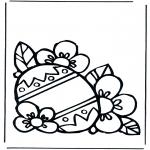 Disegni da colorare Temi - Uovo di Pasqua