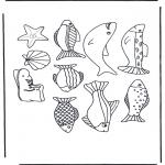 Disegni da colorare Animali - Vari pesci