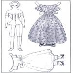 Lavori manuali - Vestiti e pupazzo da vestire 1