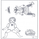 Lavori manuali - Vestiti e pupazzo da vestire 2