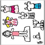 Lavori manuali - Vestiti e pupazzo da vestire 3