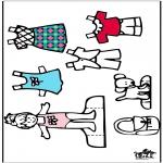 Lavori manuali - Vestiti e pupazzo da vestire 4