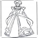 Disegni da colorare Vari temi - Vestiti medievali