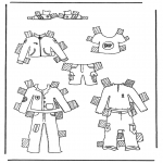 Lavori manuali - Vestiti per pupazzo da vestire 1