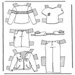Lavori manuali - Vestiti per pupazzo da vestire 2