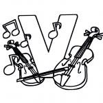 Disegni da colorare Vari temi - Violini