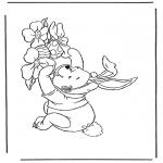 Disegni da colorare Temi - Winnie the Pooh a Pasqua