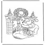 Personaggi di fumetti - Winnie the Pooh Babbo natale