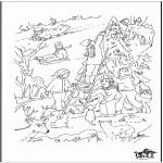Disegni da colorare Natale - X-mas coloringpage 4