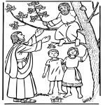 Disegni biblici da colorare - Zaccheo e Gesù