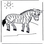 Disegni da colorare Animali - Zebra